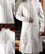 Fashion Of White Sherwani 2014 For Pakistani Groom 002