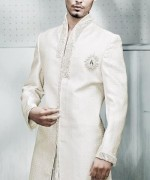 Fashion Of White Sherwani 2014 For Pakistani Groom 003