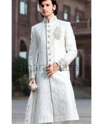 Fashion Of White Sherwani 2014 For Pakistani Groom 004