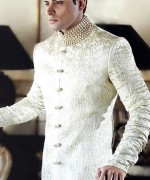 Fashion Of White Sherwani 2014 For Pakistani Groom 005