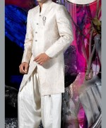 Fashion Of White Sherwani 2014 For Pakistani Groom 006