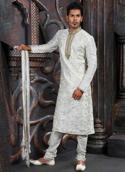 Fashion Of White Sherwani 2014 For Pakistani Groom 008