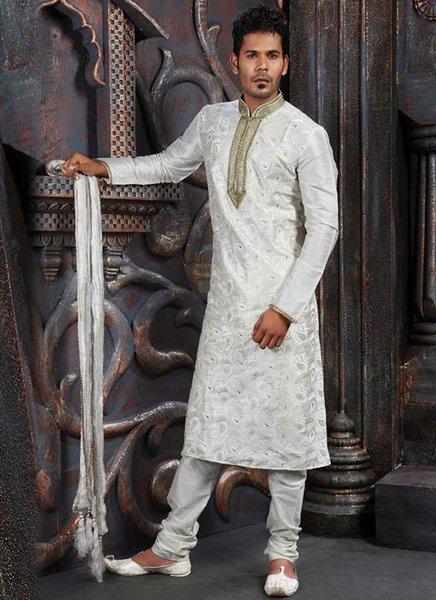 Fashion Of White Sherwani 2014 For Pakistani Groom 008