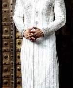 Fashion Of White Sherwani 2014 For Pakistani Groom