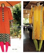 Junaid Jamshed Mid Summer Dresses 2014 For Girls 2