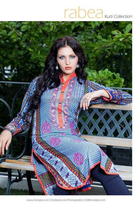 Rabea Kurti Designs 2014 For Mid Summer 4