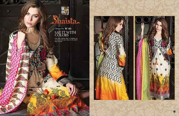 Shaista Cloth Eid Ul Azha Dresses 2014 For Women 003