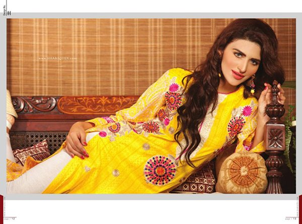 Shariq Textiles Sahil Kurti Collection 2014 For Women 0011