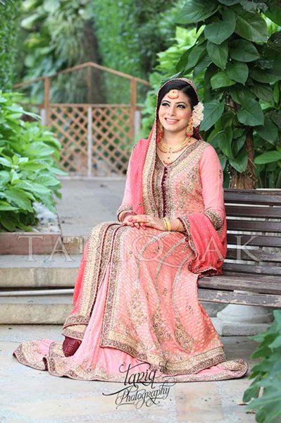 Trend Of Pink Walima Dresses 2014 For Pakistani Brides 0011