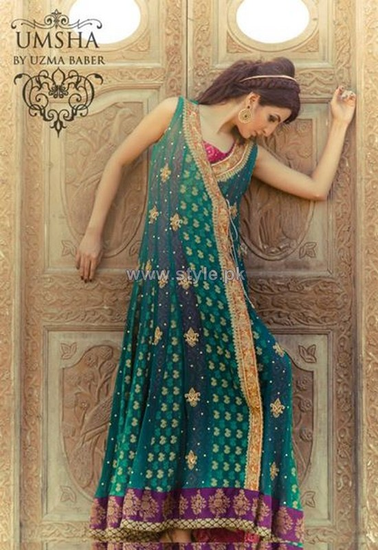 Umsha by Uzma Babar Formal Dresses 2014 For Women 2