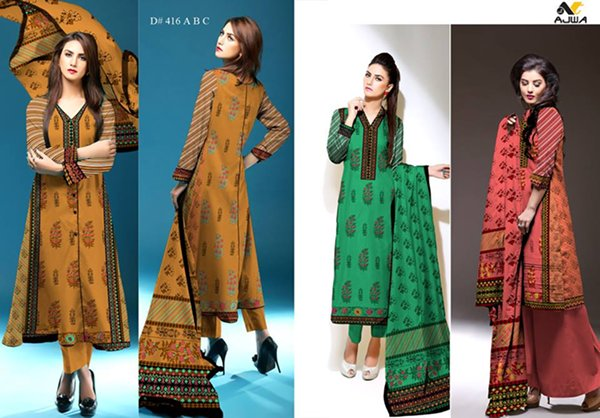 Ajwa Textile Khaddar Dresses 2014 Volume 1 For Women 0013