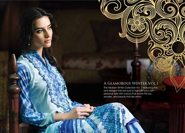 Alkaram Winter Dresses 2014 Volume 1 For Women 006