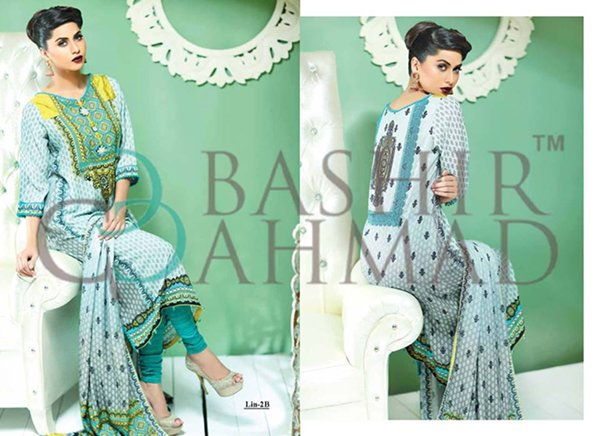 Bashir Ahmad Textiles Linen Dresses 2014 For Women 003