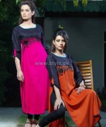 Damak Autumn Winter Dresses 2014 For Girls 1