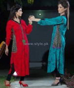 Damak Autumn Winter Dresses 2014 For Girls 2