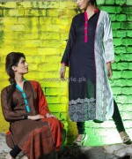 Damak Autumn Winter Dresses 2014 For Girls 3