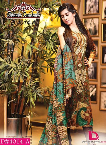 Dawood Textiles Cambric Fall Collection 2014 For Women 0015