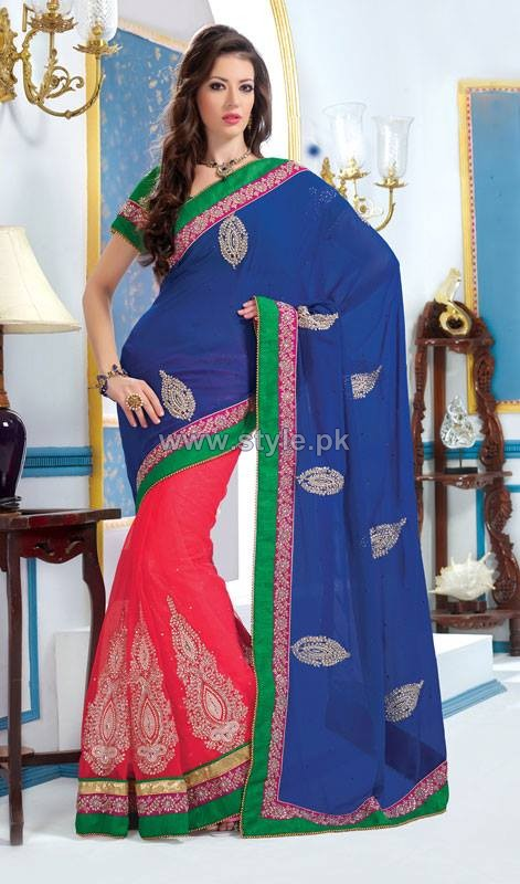 Latest Indian Sarees Designs 2014 For Women 4