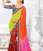 Latest Indian Sarees Designs 2014 For Women 5