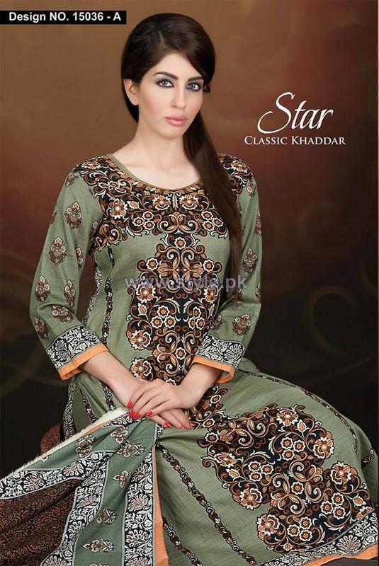 Naveed Nawaz Textiles Khaddar Dressses 2014 For Girls 3