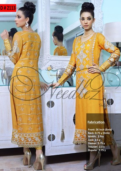 Needlez By Shalimar Eid Ul Azha Collection 2014 For Women 006