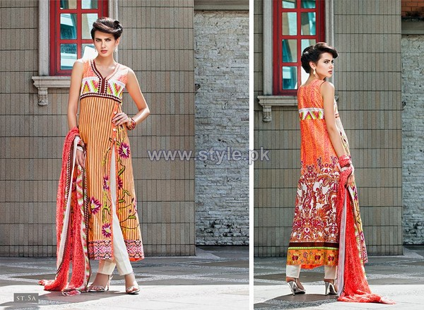 Rabea Designer Embroidered Dresses 2014 by Shariq Textiles 4