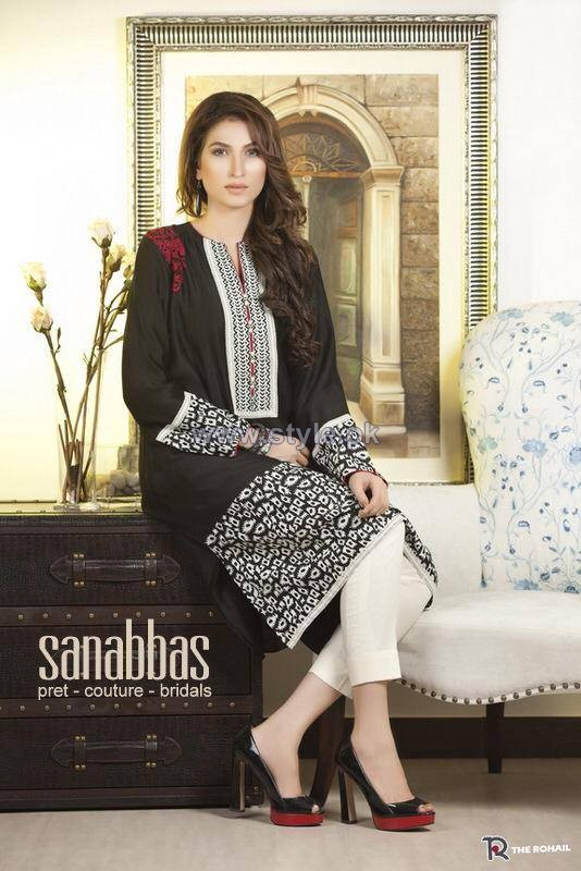 Sana Abbas Fall Dresses 2014 For Girls 3
