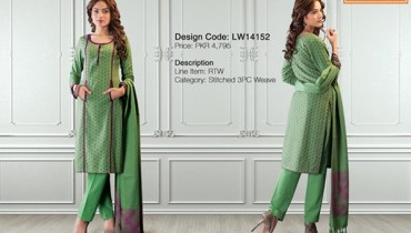 Warda Designer Winter Dresses 2014 For Women 0010