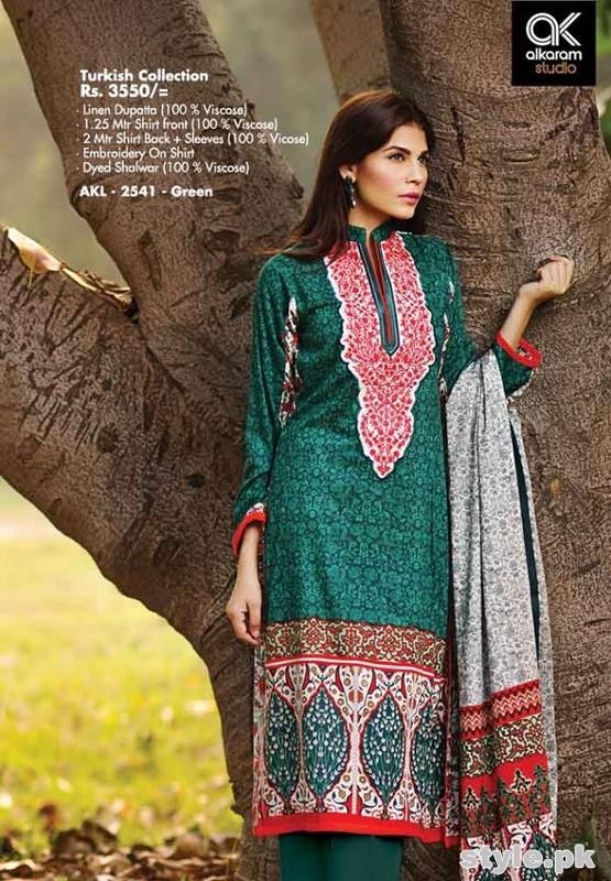 Al-Karam Winter Dresses 2014-2015 Volume 2 14