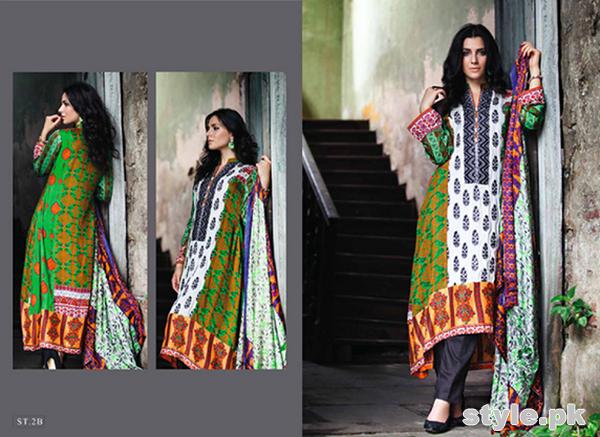 Feminine Winter Shawl Dresses 2014 by Shariq Textiles 6