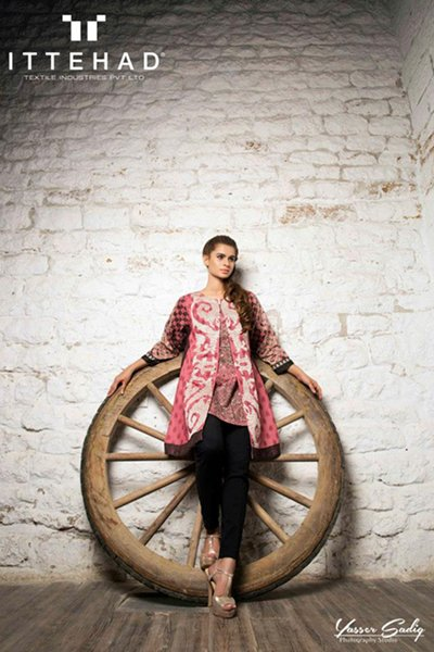 Ittehad Textiles Winter Dresses 2014 For Women 008