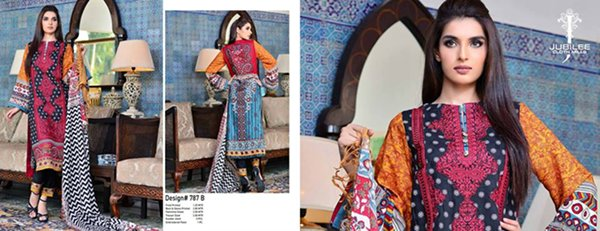 Jubilee Cloth Mills Winter Dresses 2014 Volume 5 For Women 0018