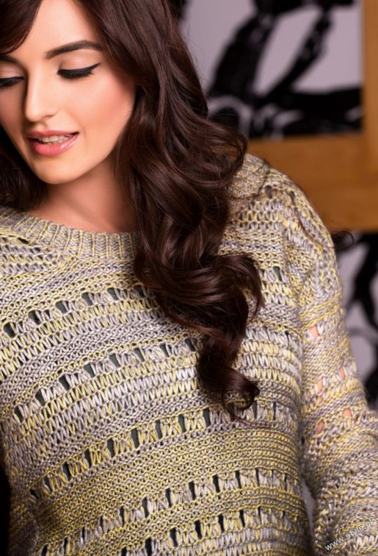 LONG SLEEVES SWEATER WITH RIBBED EDGES Zeen Sweaters 2014