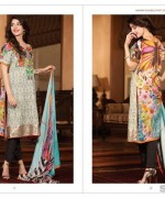 LSM Fabrics Rosette Digital Print Dresses 2014 For Women 4