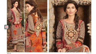 LSM Fabrics Winter Dresses 2014 Volume 4 For Women 008