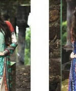 Maria B Winter Shawl Dresses 2014 For Women 1