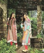 Maria B Winter Shawl Dresses 2014 For Women 5