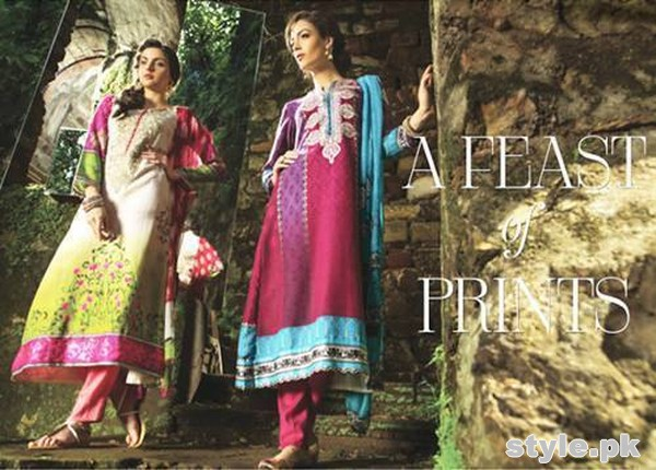 Maria B Winter Shawl Dresses 2014 For Women 6