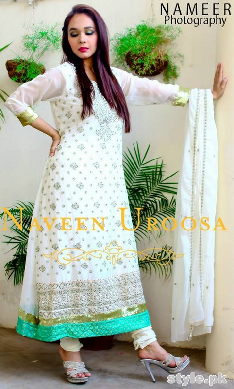 Naveen Uroosa Semi-Formal Dresses 2014 For Girls 4