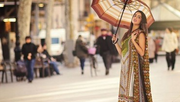 Orient Textiles Fall Winter Dresses 2014 For Women 1