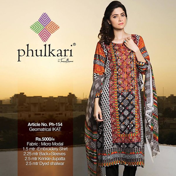 Phulkari By Taana Baana Winter Dresses 2014 Volume 1 For Women