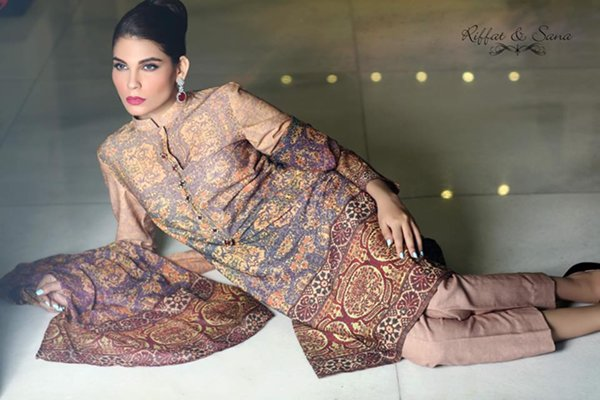Sana Salman Winter Dresses 2014 For Women 0012