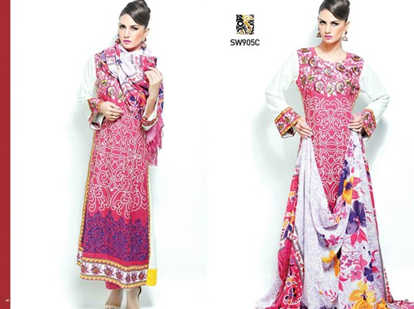 Shaista Cloth Winter Dresses 2014 Volume 3 For Women 0012