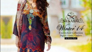 So Kamal Winter Dresses 2014-2015 For Women 1