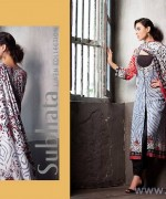 Subhata Linen Dresses 2014-2015 by Shariq Textile 1