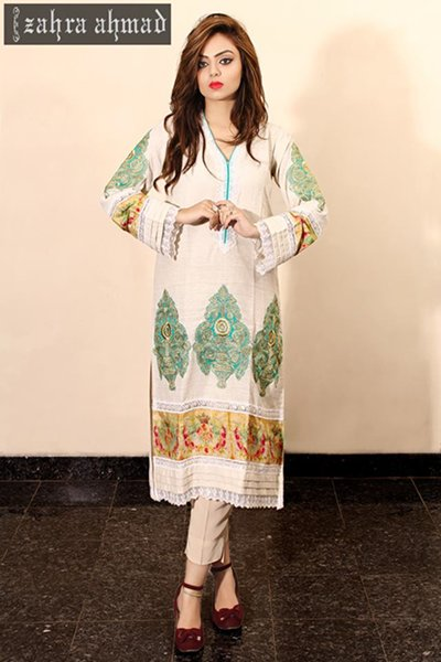 Zahra Ahmad Winter Dresses 2014 For Women 001