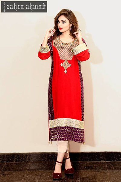 18451205be5 Zahra Ahmad Winter Dresses 2014 For Women