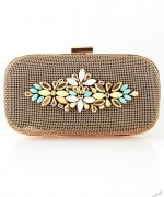 gold blue clutch purses and handbags for ladies by zeen