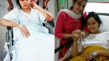 Actress Nimra Khan Pictures After A Severe Car Accident