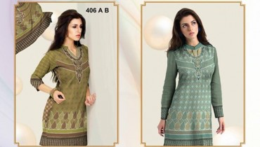 Al-Hamra Textile Linen Dresses 2014 Volume 1 For Women 007